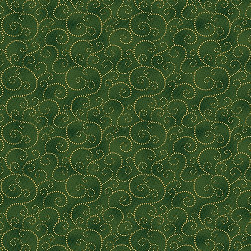 Holiday Scroll Emerald/Gold<br/>Benartex 9606M-43