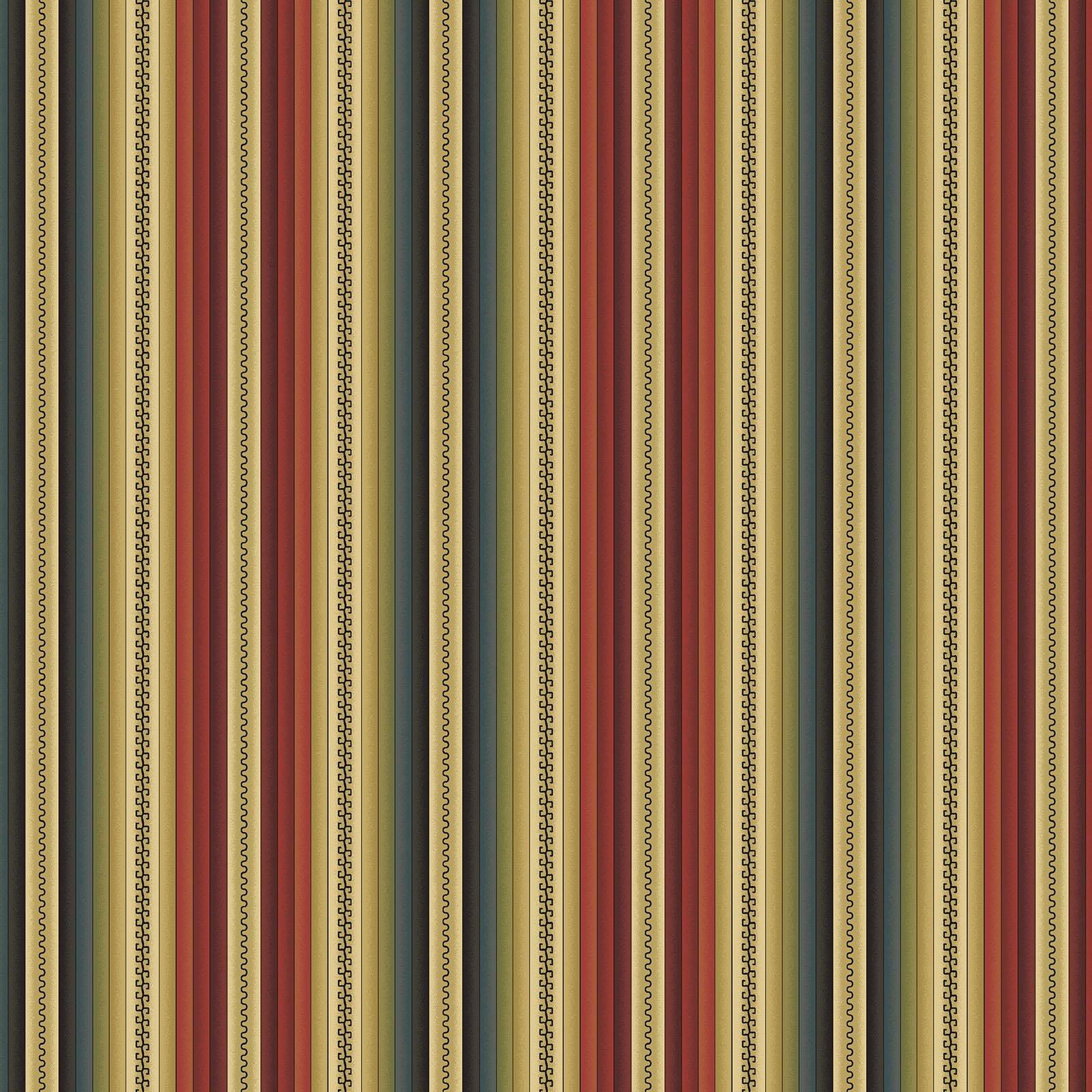 Blanket Stripe Red/Multi<br/>Benartex 219210