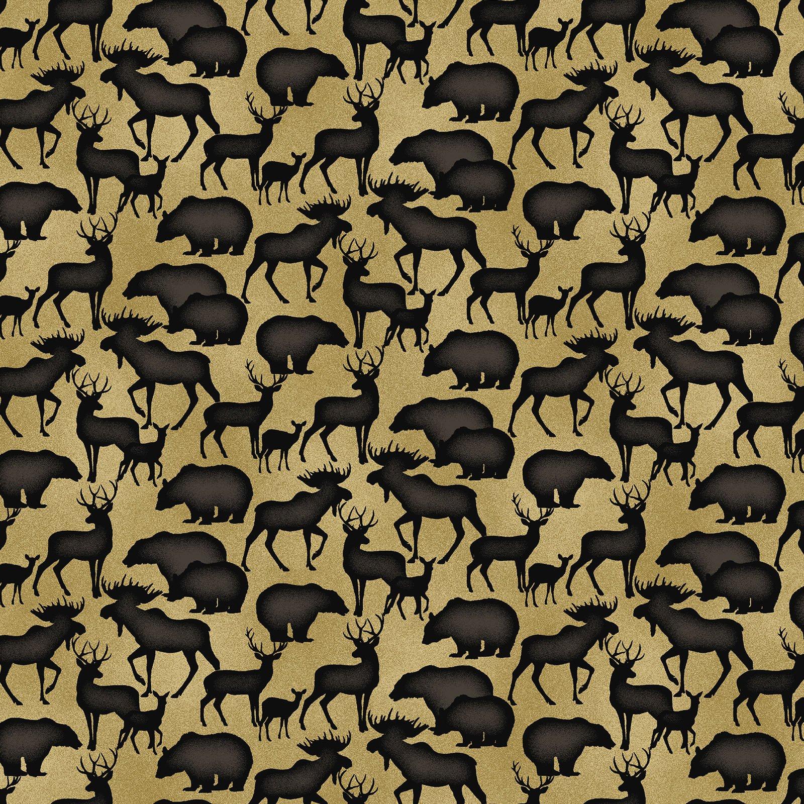 Animal Silhouettes Tan<br/>Benartex 219472