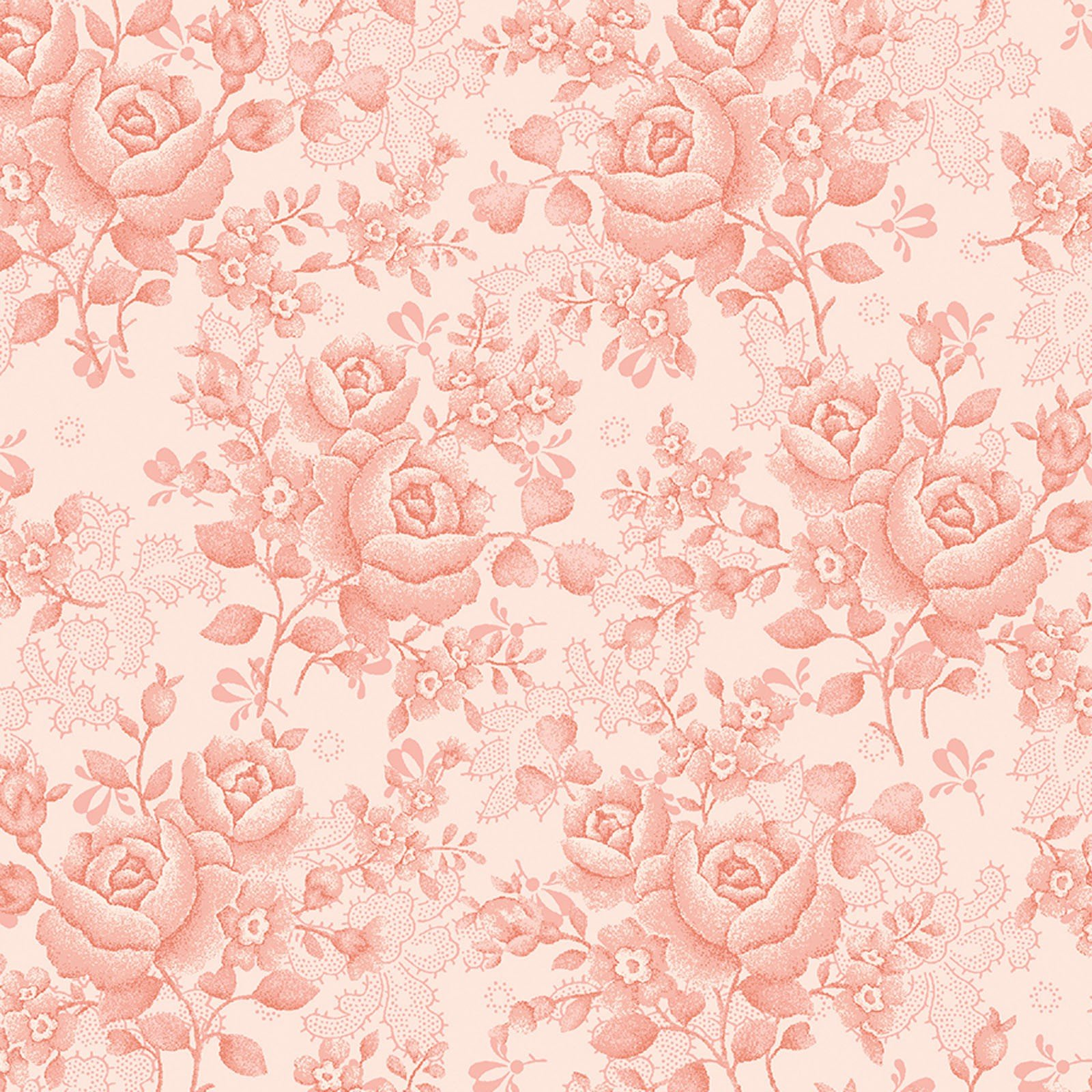 108in Homestead Climbing Rose Pink<br/>Benartex 1649W-02