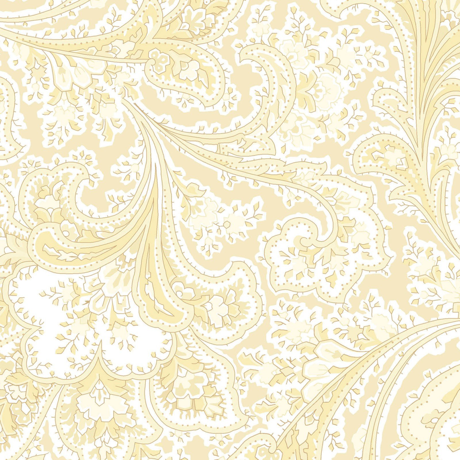 108in Wide Rosemont - Ecru/Yellow<br/>Benartex 2283W-77
