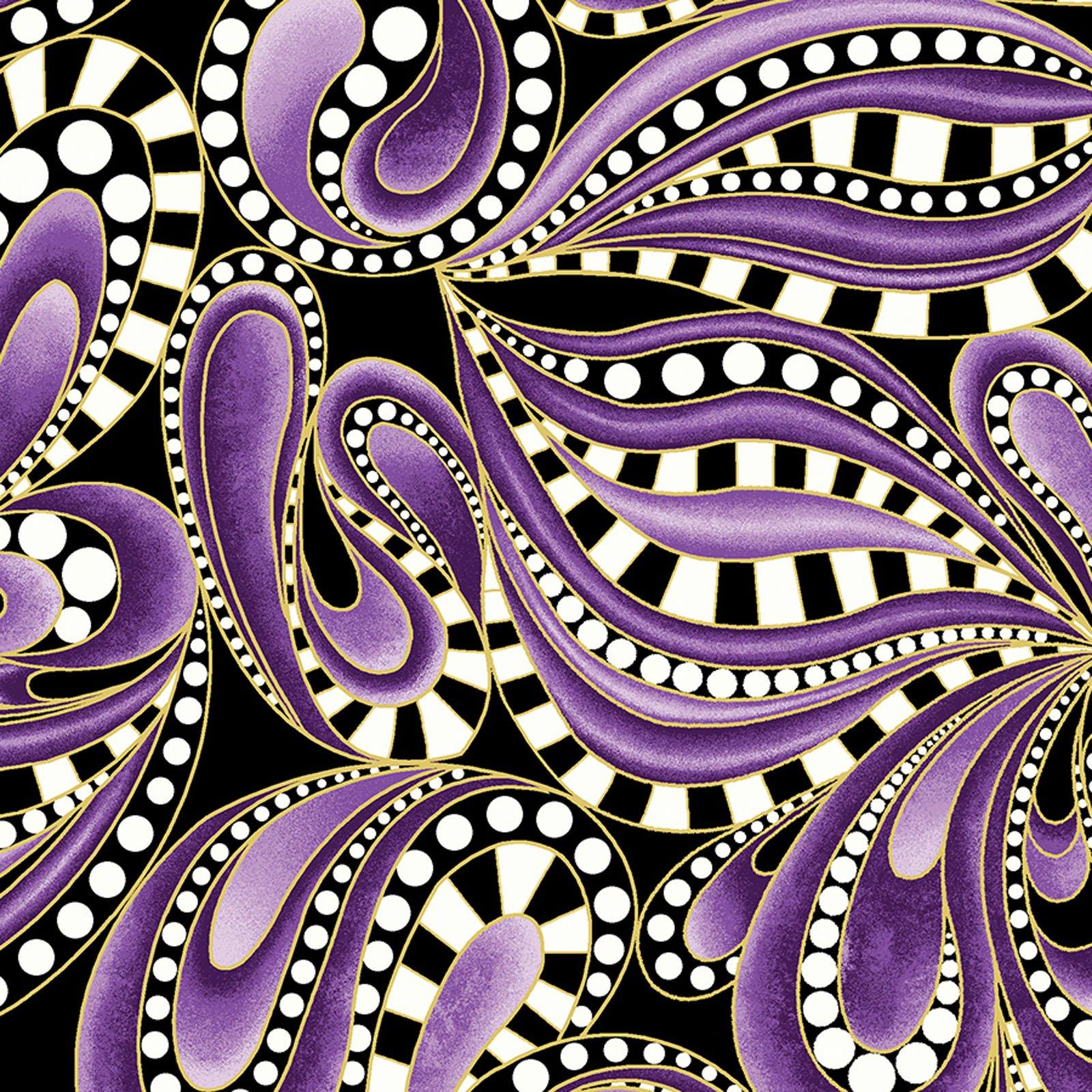 Paisley Swirl Purple<br/>Benartex 6743M-66