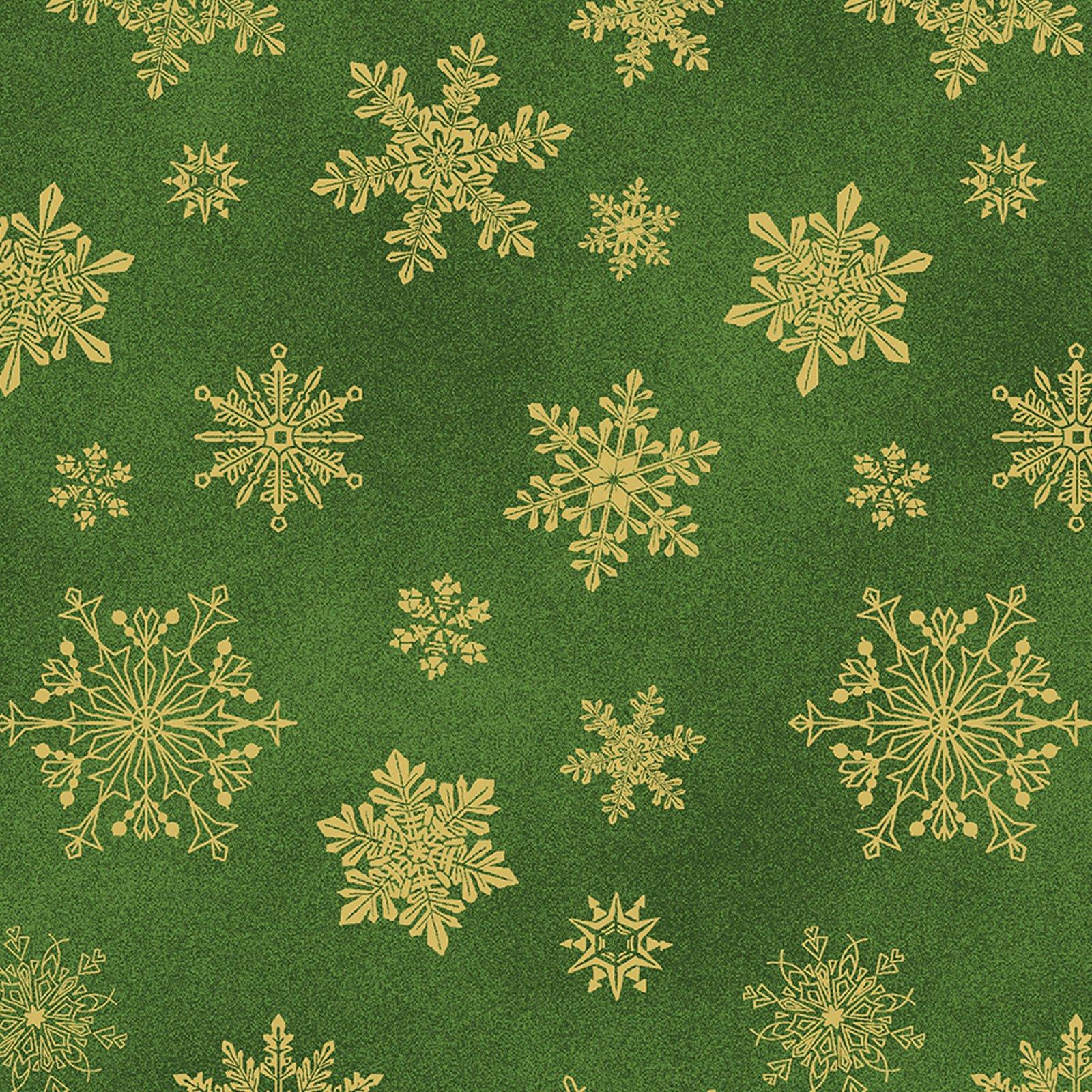 Playful Flakes Dk Green<br/>Benartex 6747M-45