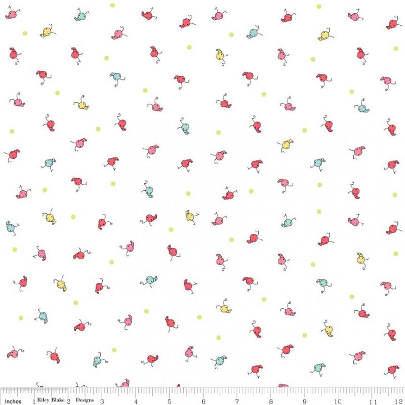 Butterfly Dance - Caterpillar Multi<br/>Riley Blake C3896-MULTI