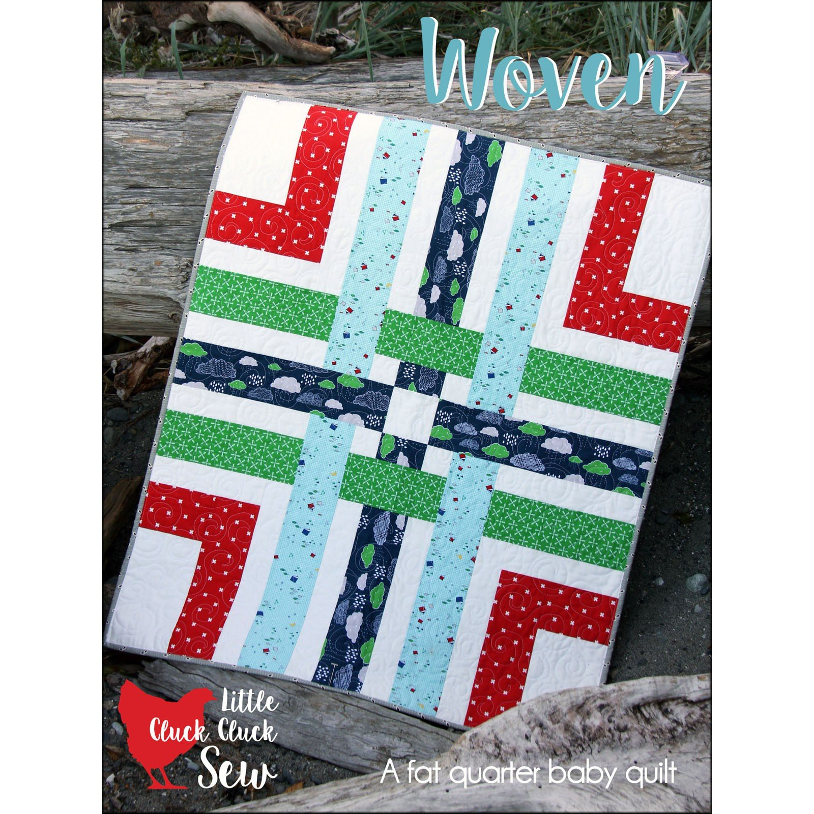 Woven Baby Quilt<br/>Cluck Cluck Sew