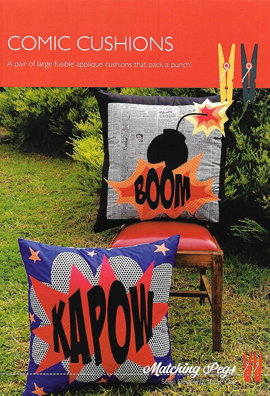 Comic Cushions<br/>Matching Pegs CG030
