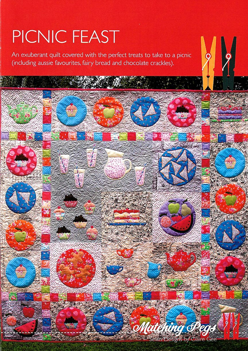 Picnic Feast Quilt</br>Matching Pegs CG033