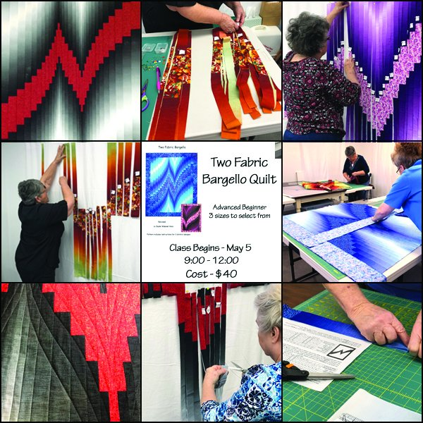 Two Fabric Bargello class