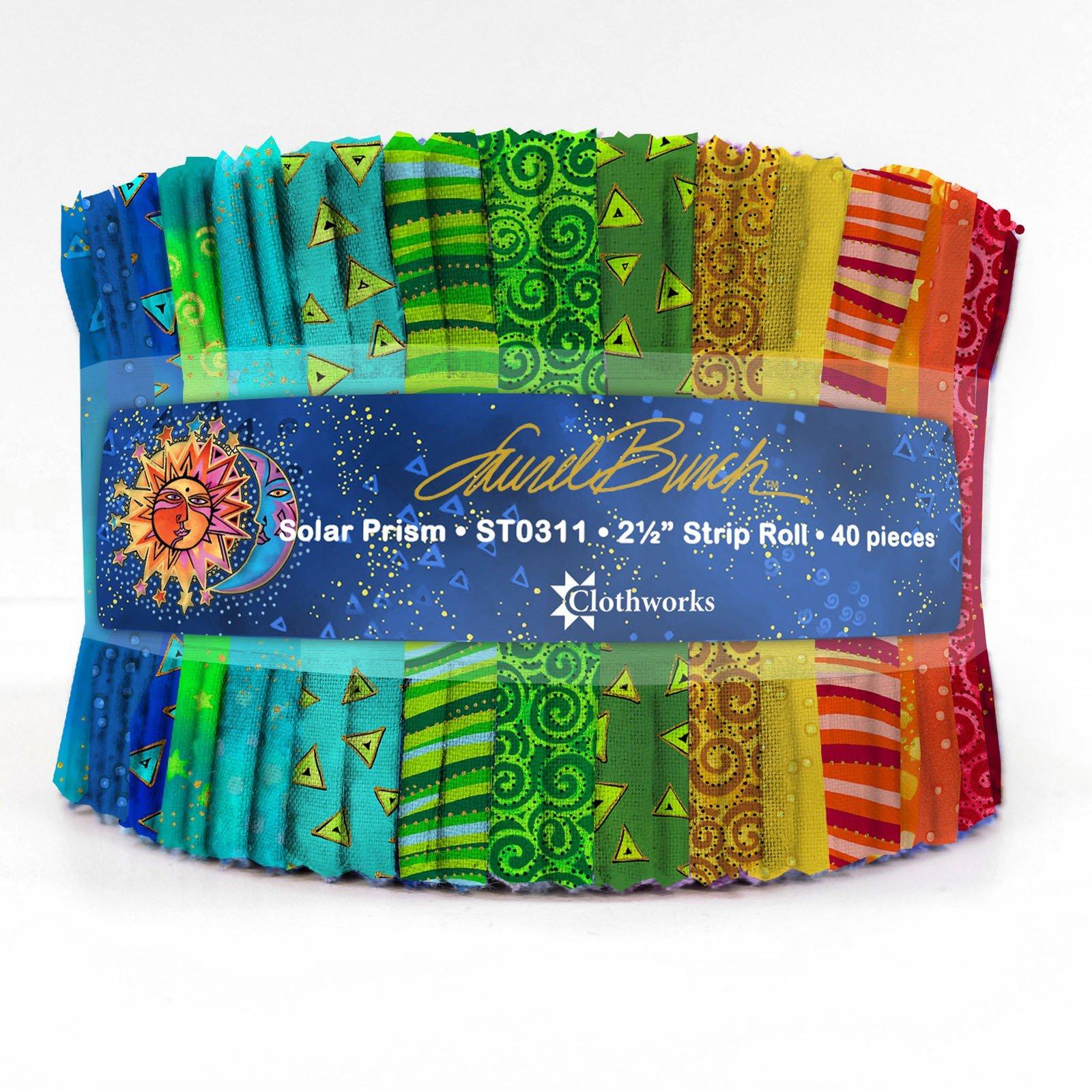 Strips - Solar Prism<br/>Laurel Burch/Clothworks ST0311