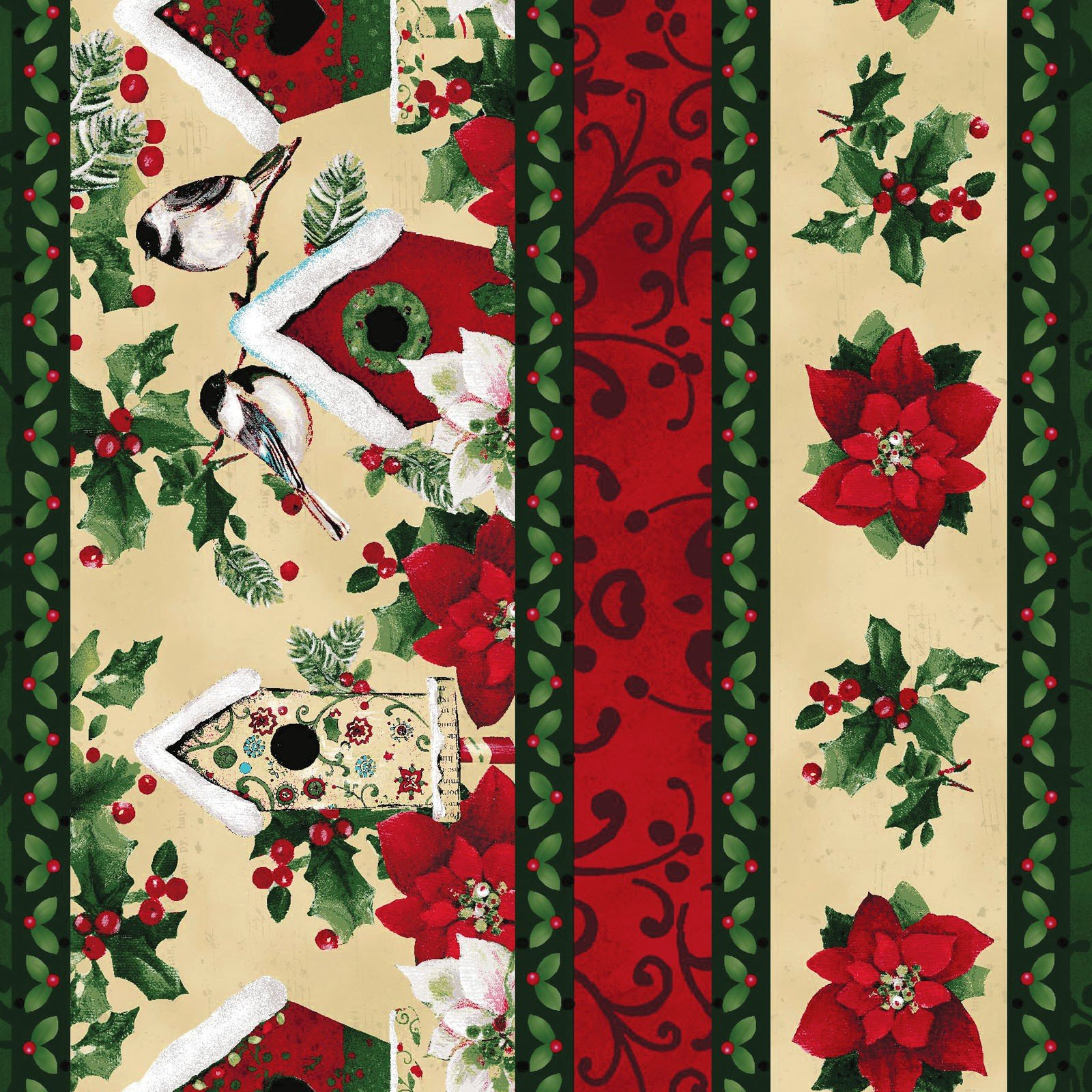 Home for the Holidays - Border<br/>Clothworks 1744-57