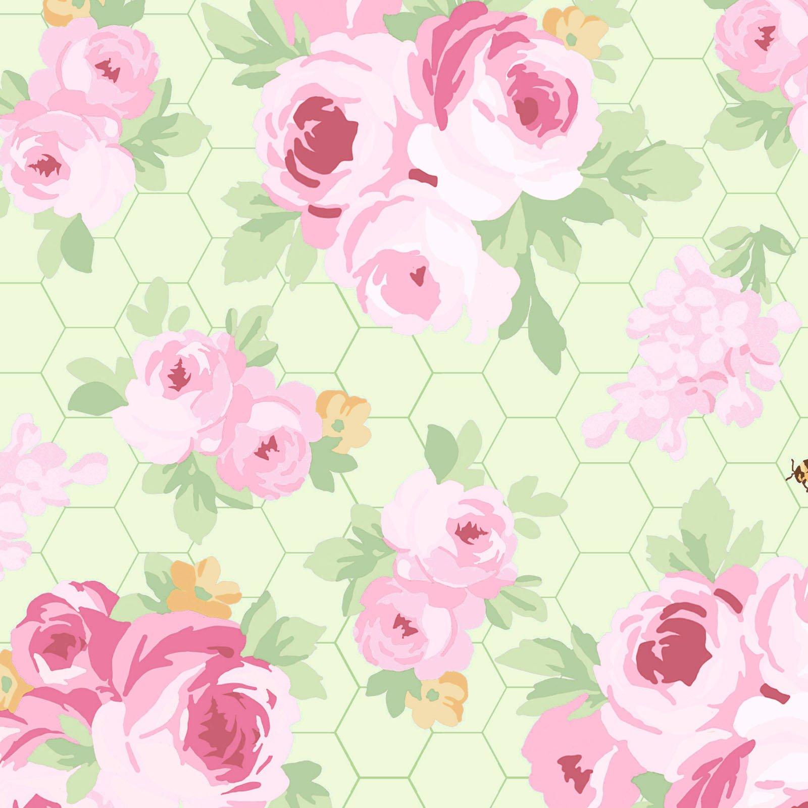 Fidelia Roses - Green<br/>Clothwork 2076-17