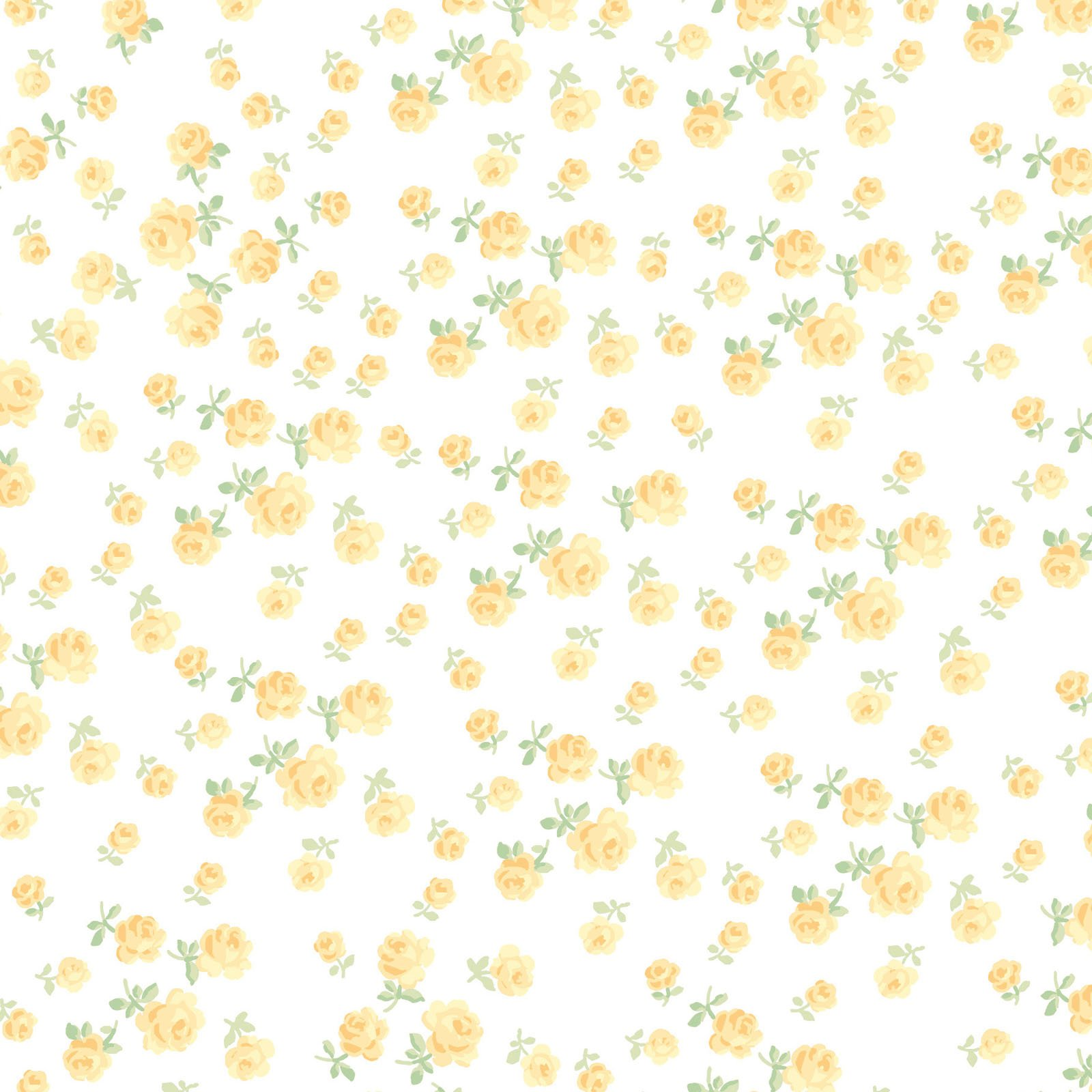 Fidelia Tiny Roses - Yellow FQ<br/>Clothwork 2077-8