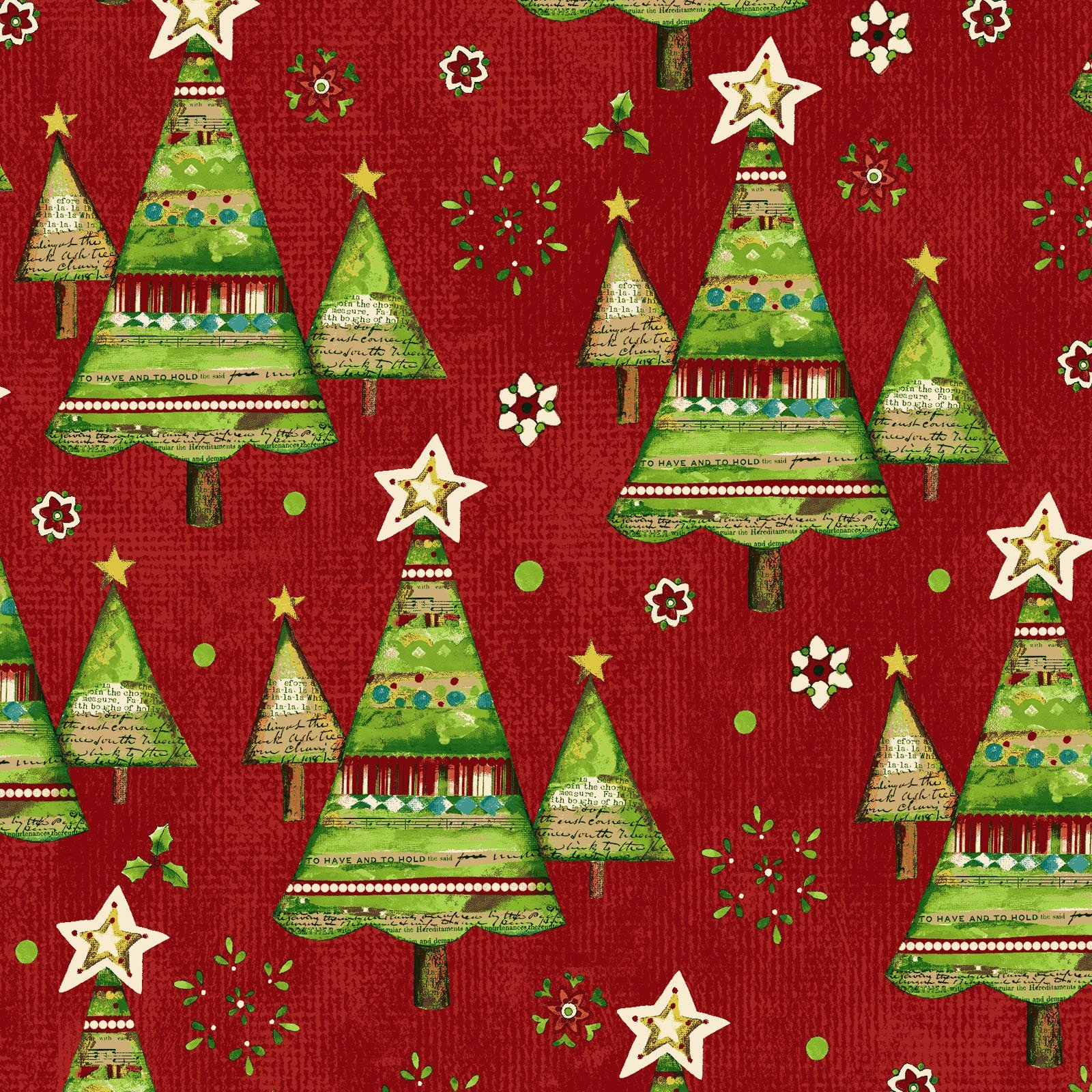 Believe Trees - Red<br/>Clothworks 2164-82