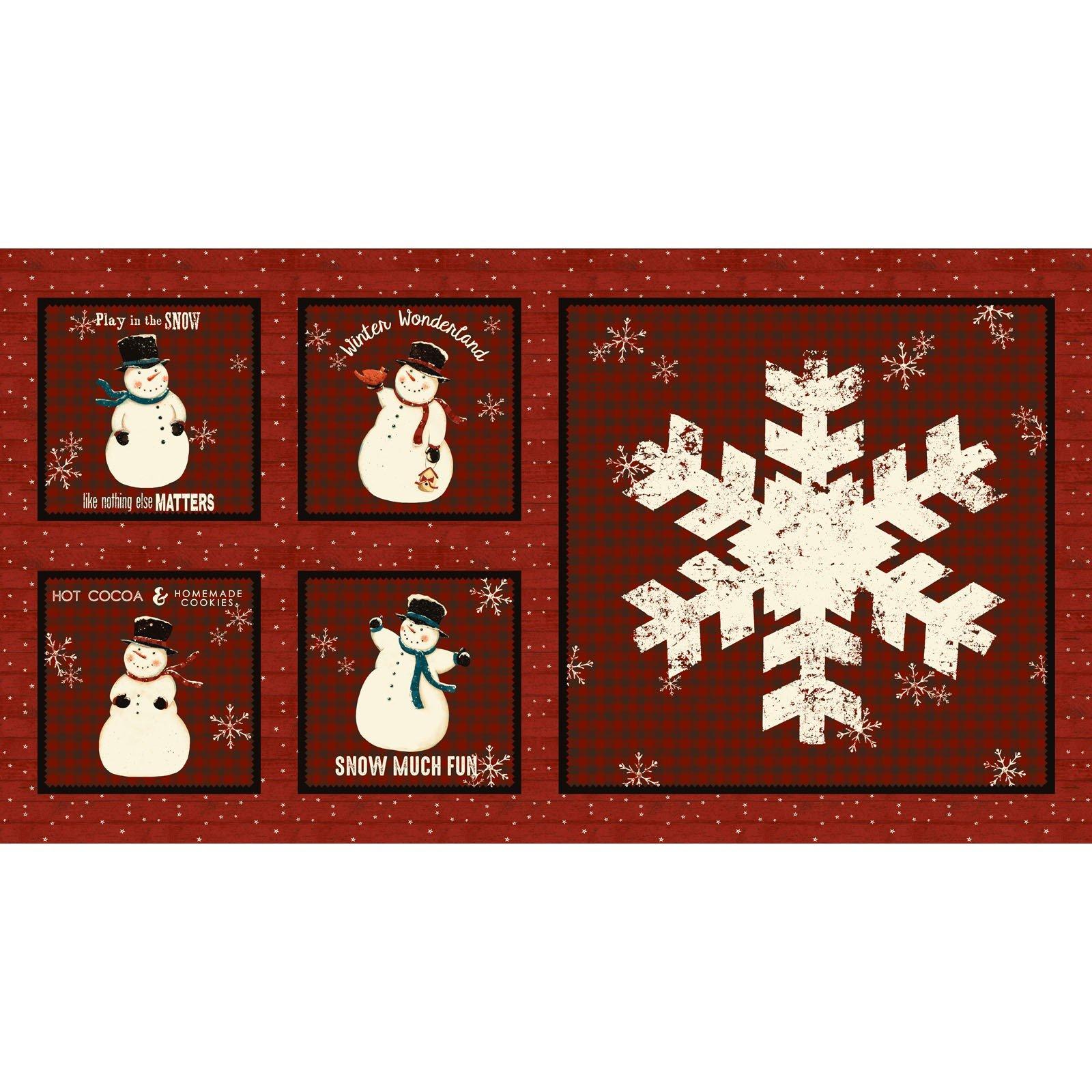 Snow Much Fun Panel<br/>Clothworks 2211-82