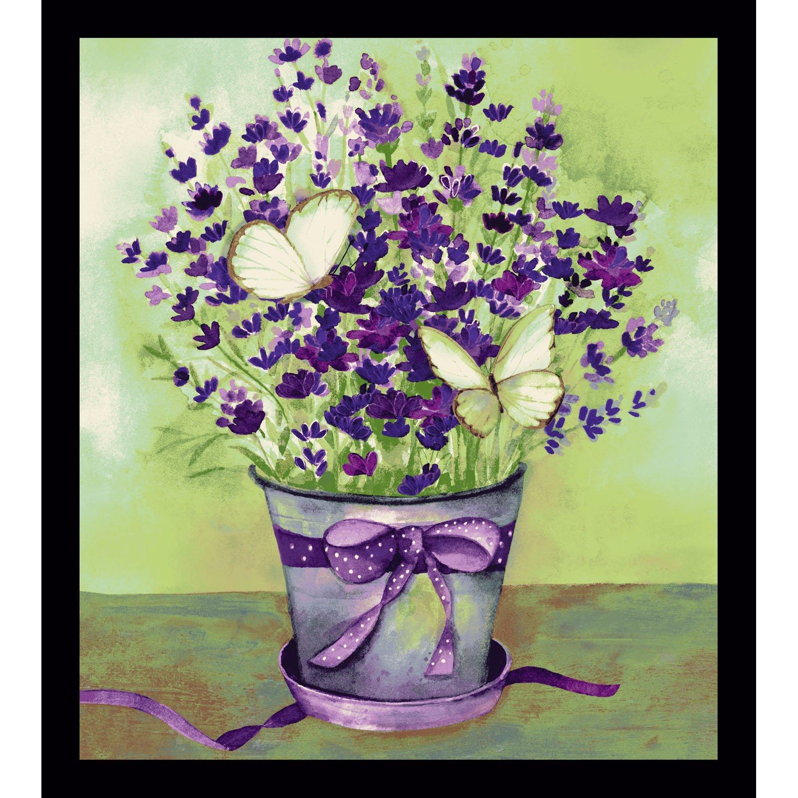 Sweet Lavender Panel<br/>Clothworks 2646-55