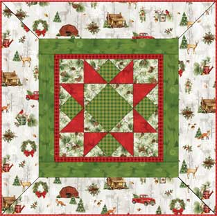 Cozy Cabin Christmas Free Table Topper/Tree Skirt Pattern