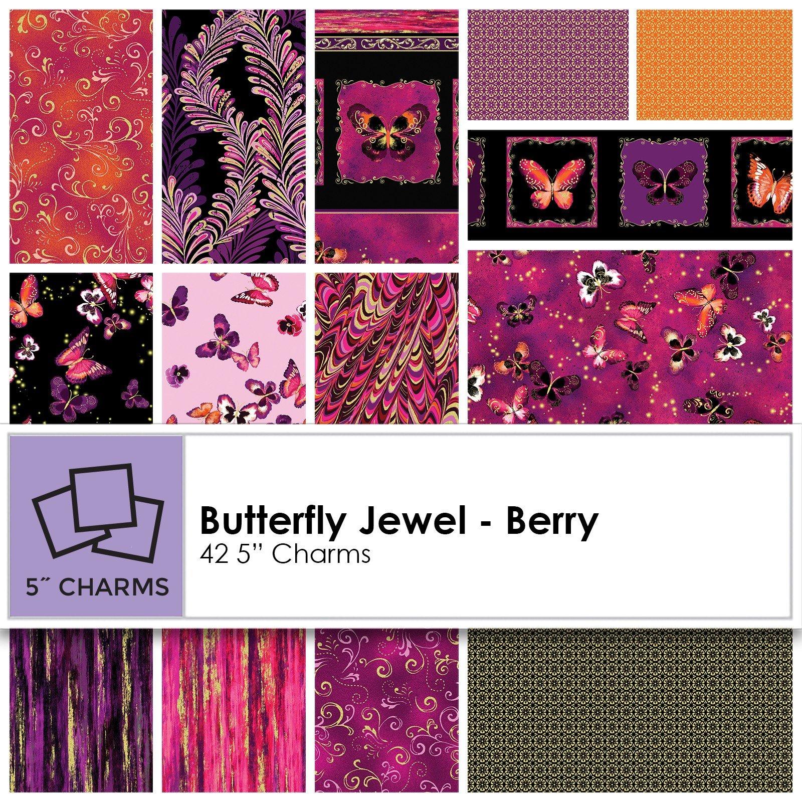 Charm Pack - Butterfly Jewel Berry<br/>Kanvas Studio