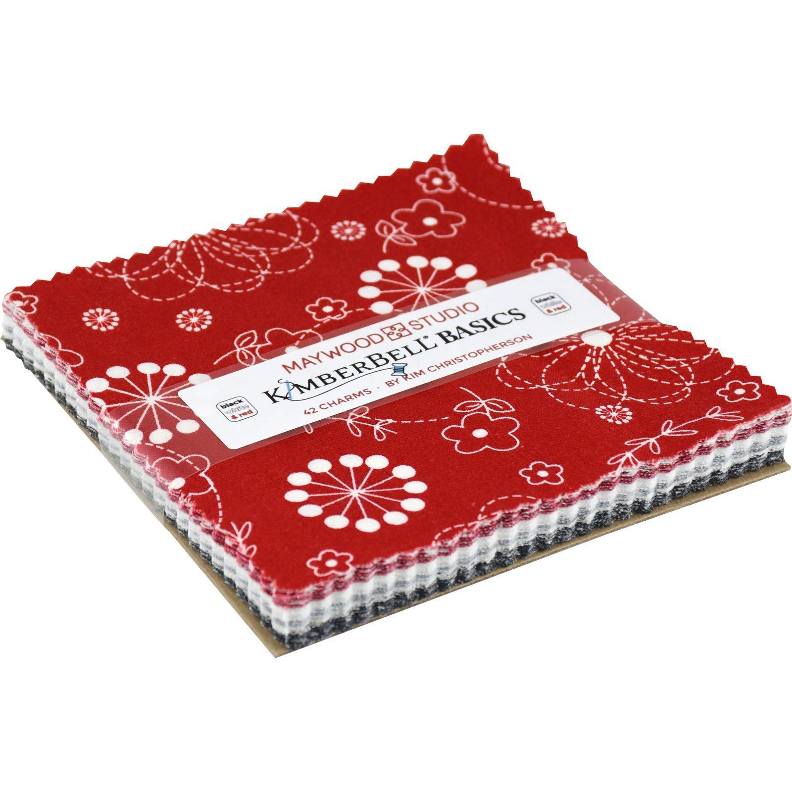 Mini Charm Pack - Kimberbell Black/White/Red<br/>Maywood Studio