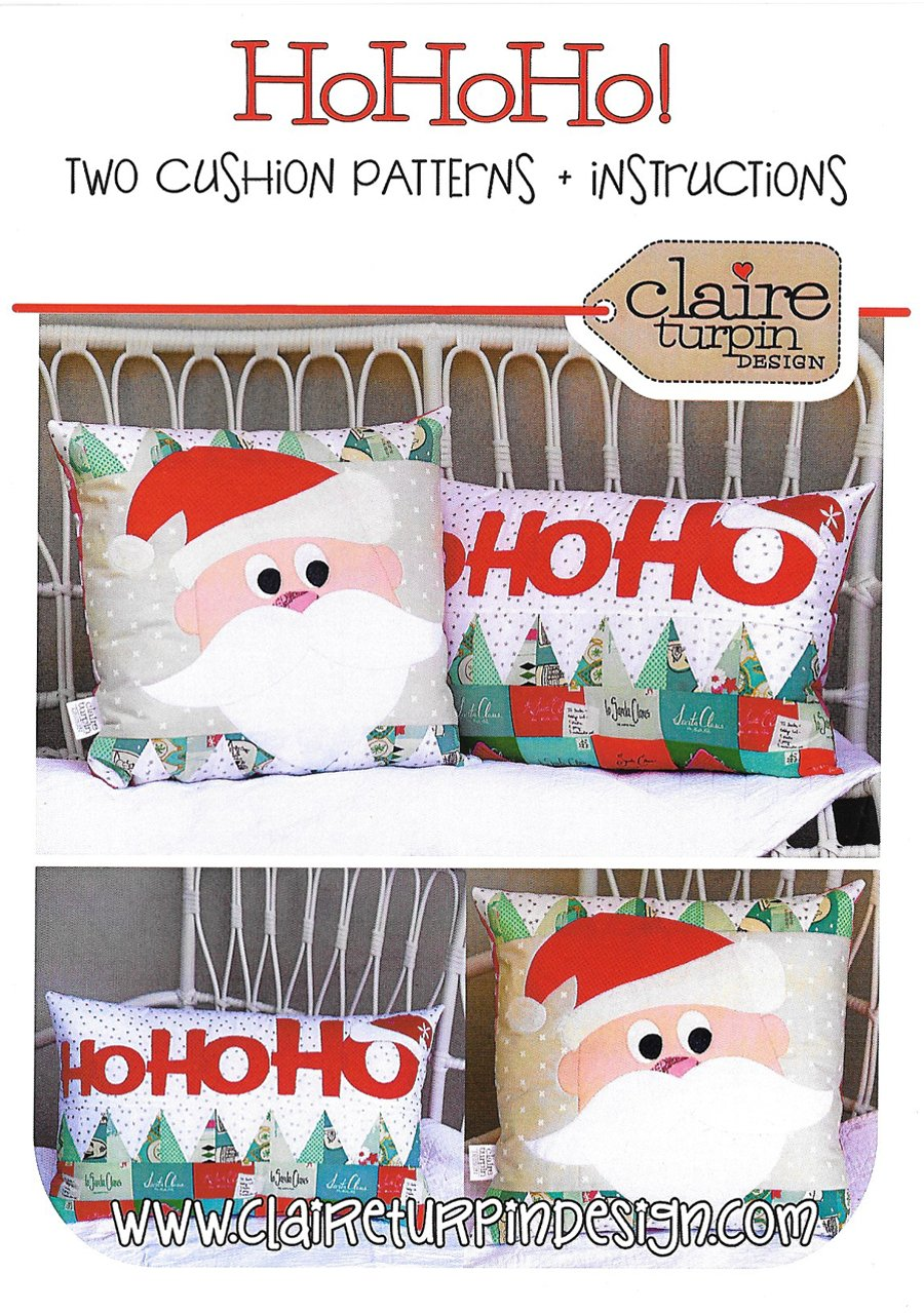 HoHoHo Applique Pillow CT019<br/>Claire Turpin Design