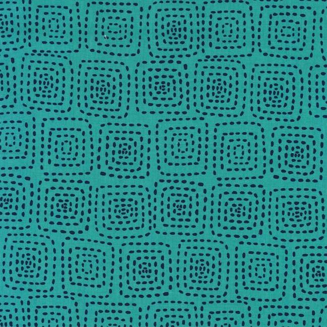 Stitch Squares - Turquoise<br/>Michael Miller 5944-TURQ