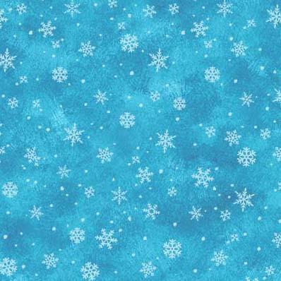 Snowflake Kisses Blue<br/>Michael Miller 9589-BLUE
