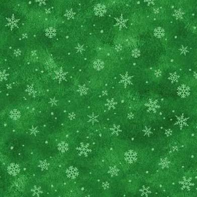 Snowflake Kisses Green<br/>Michael Miller 9589-GREE