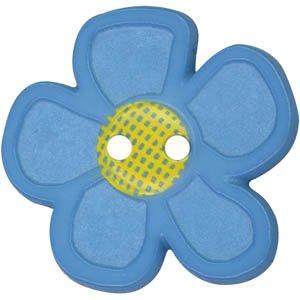 Flower Button 20mm<br/>Dill