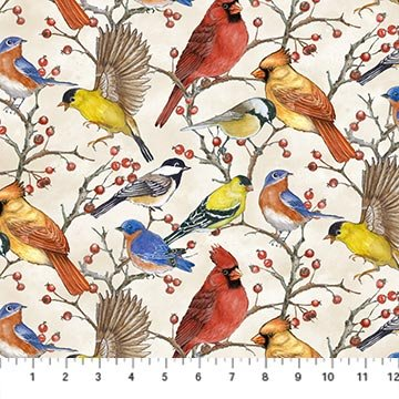 Birdsong Allover<br/>Northcott 22432-11