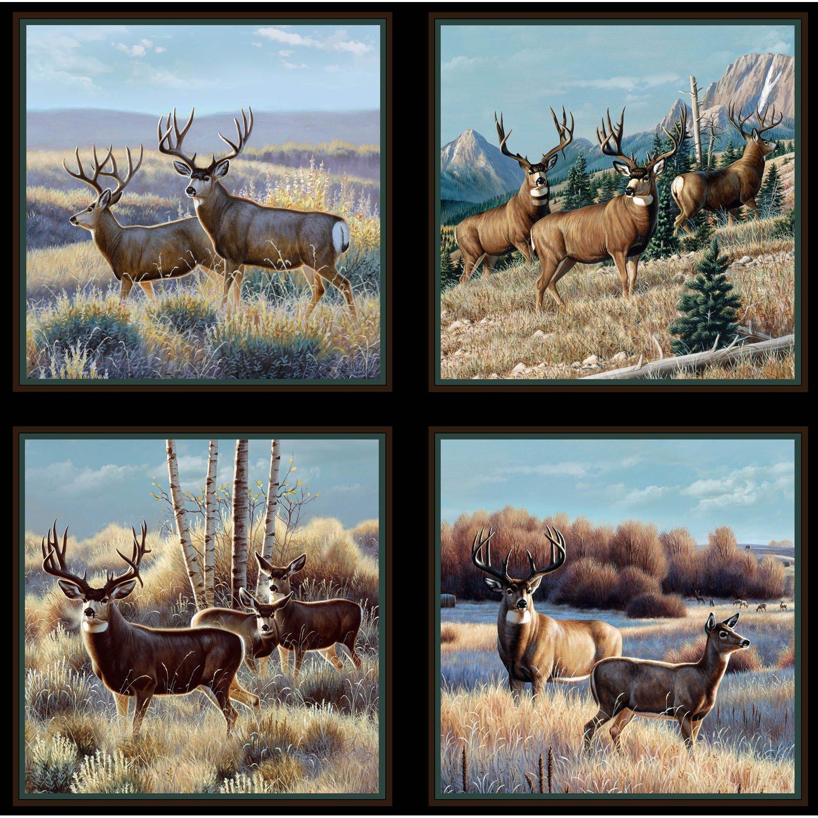 Mule Deer in Sage Panel<br/>Elizabeth's Studio 7200-BLA