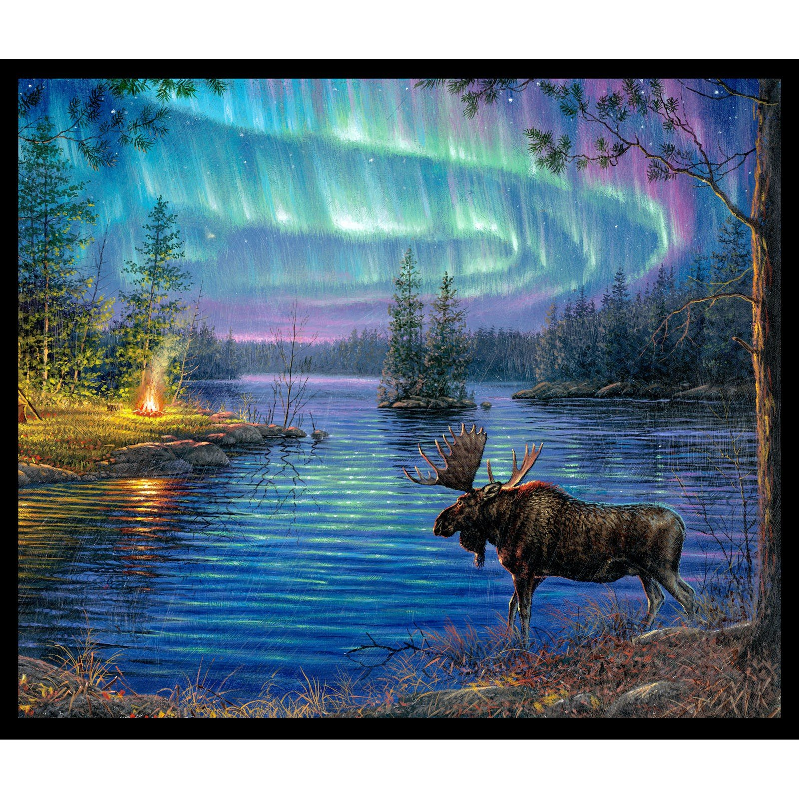 Northern Lights Panel<br/>Elizabeth's Studio 9600-BLA