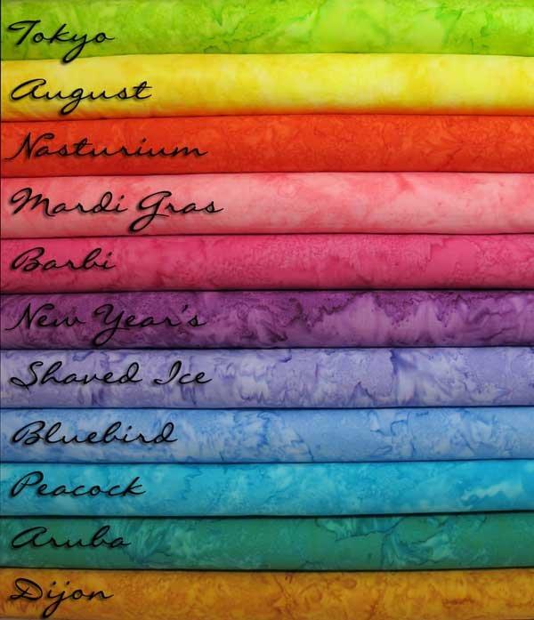 Bali Watercolor Hand-Dyed Batiks by Hoffman