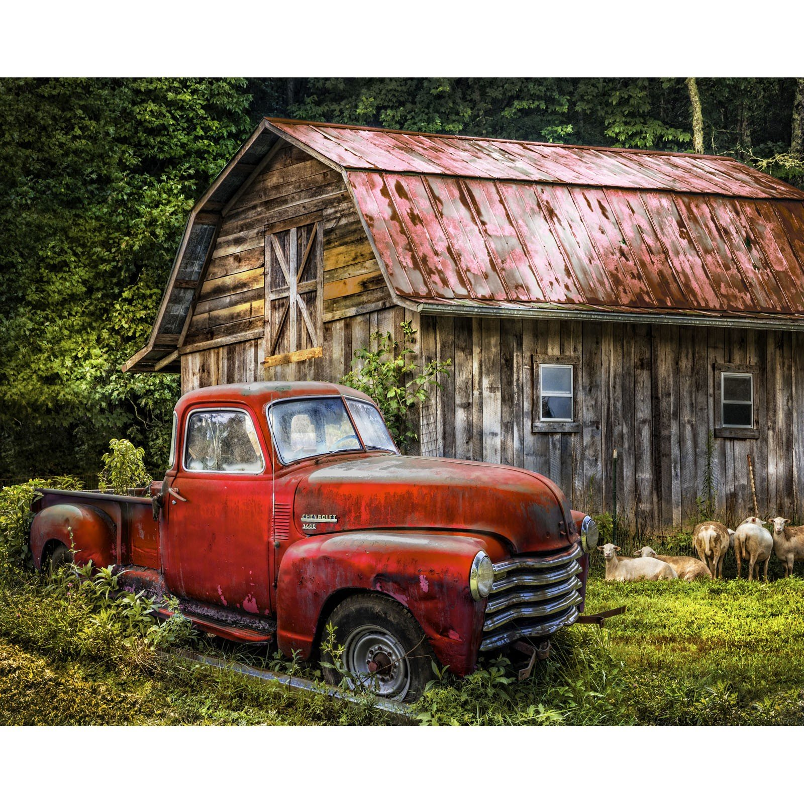 Truck at the Barn<br/>Four Seasons 3716-8C-2