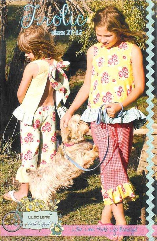 Frolic - Suntop & Ruffle Capris<br/>Lilac Lane Patterns