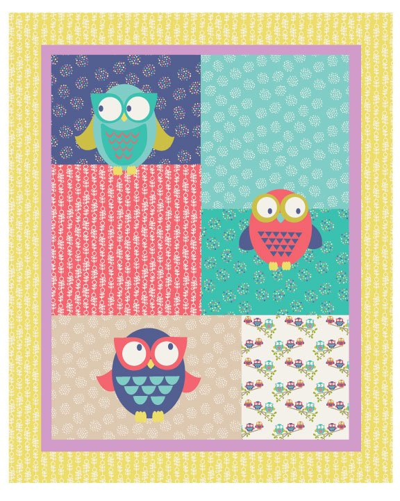 Owl You Alright Bright (35'' Panel)</br>Fabric Freedom