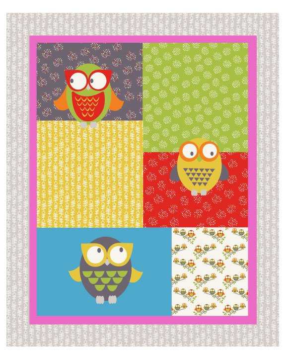 Owl You Alright Gray (35'' Panel)</br>Fabric Freedom