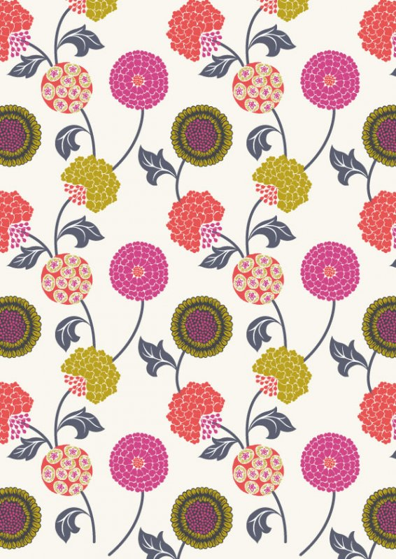 Floral Punch - Vanilla Cream<br/>Fabric Freedom