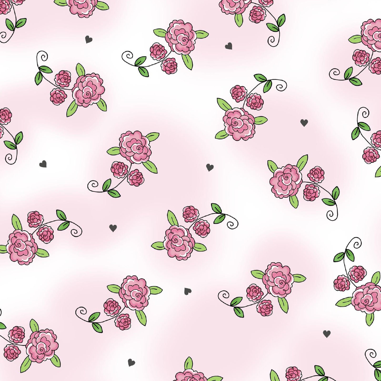 Roses - Lt Pink 1028M-20 FQ<br/>Henry Glass