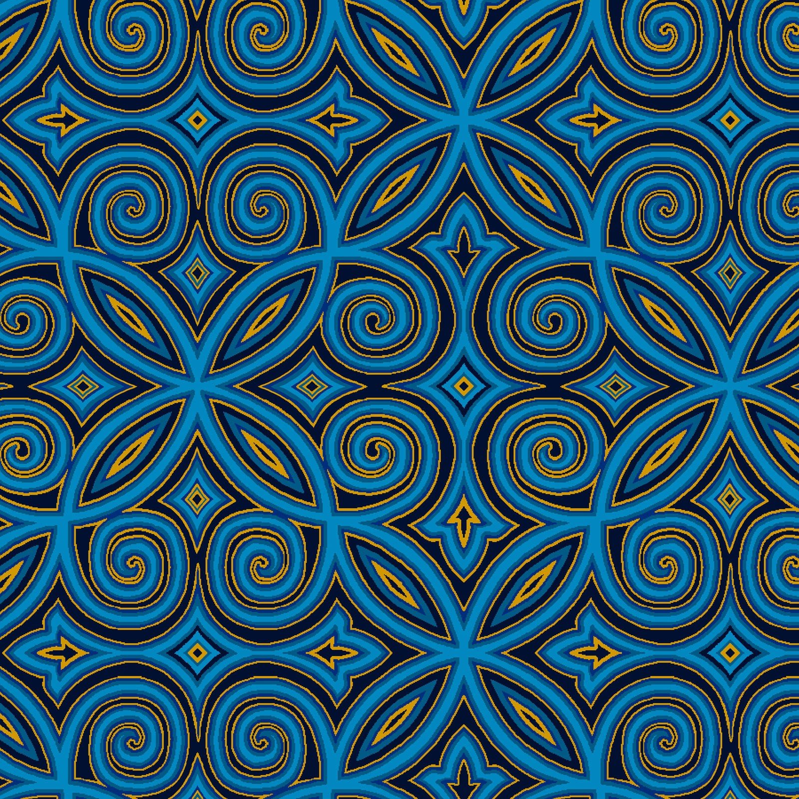 Arabesque Blue<br/>Henry Glass 2510M-77
