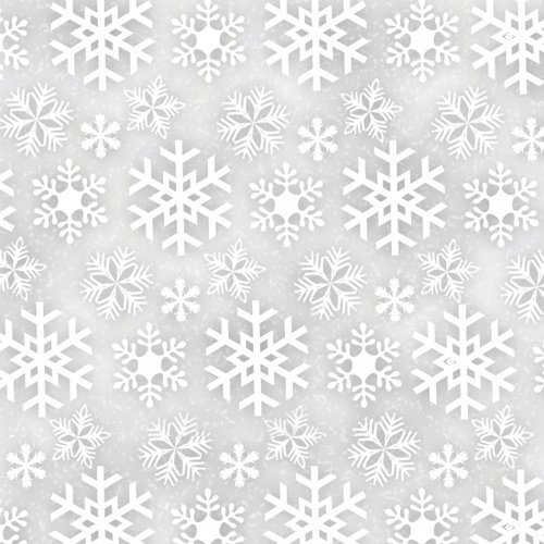 Snowflakes - Grey Flannel<br/>Henry Glass 6979-90