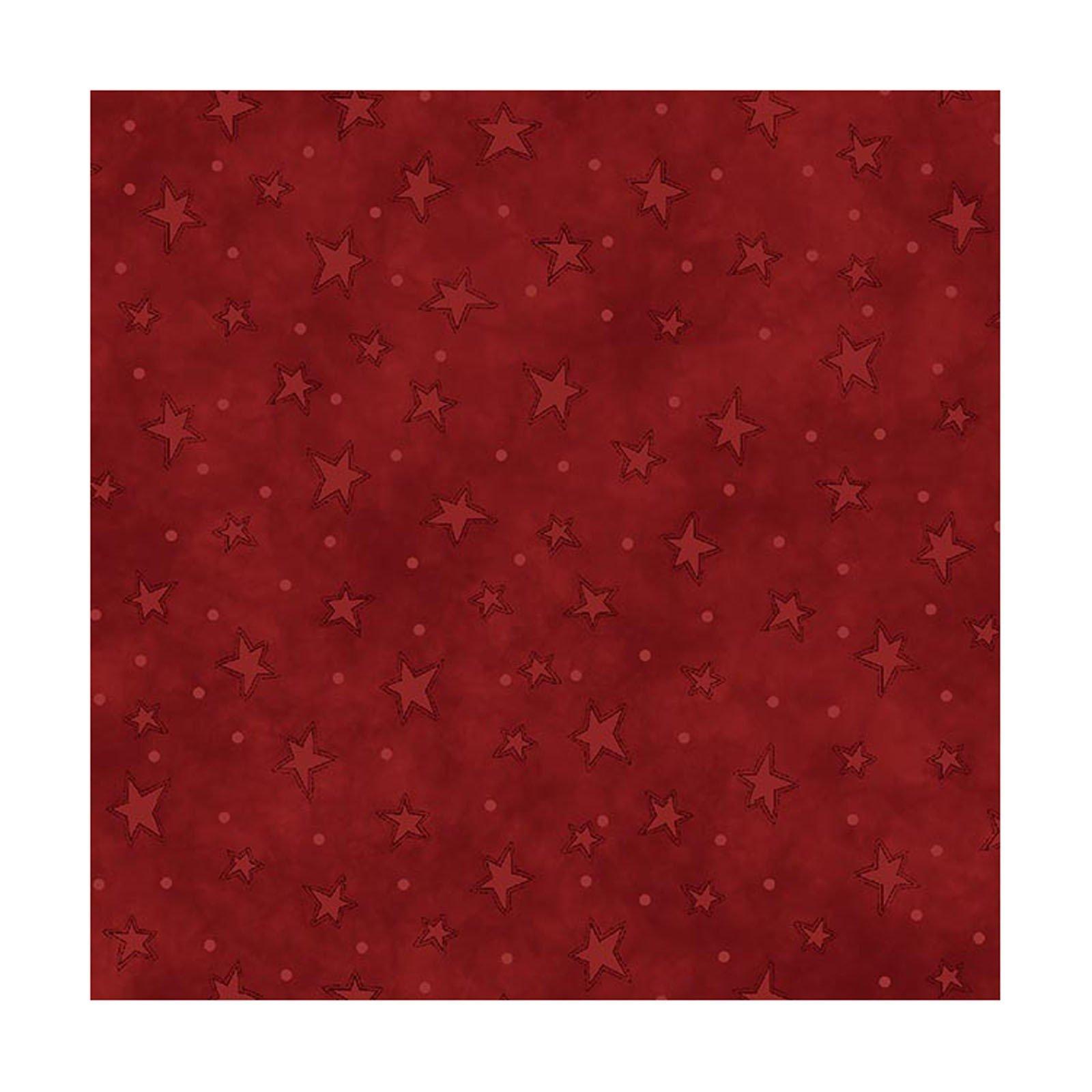 Starry Basics - Red FQ<br/>Henry Glass 8294-88