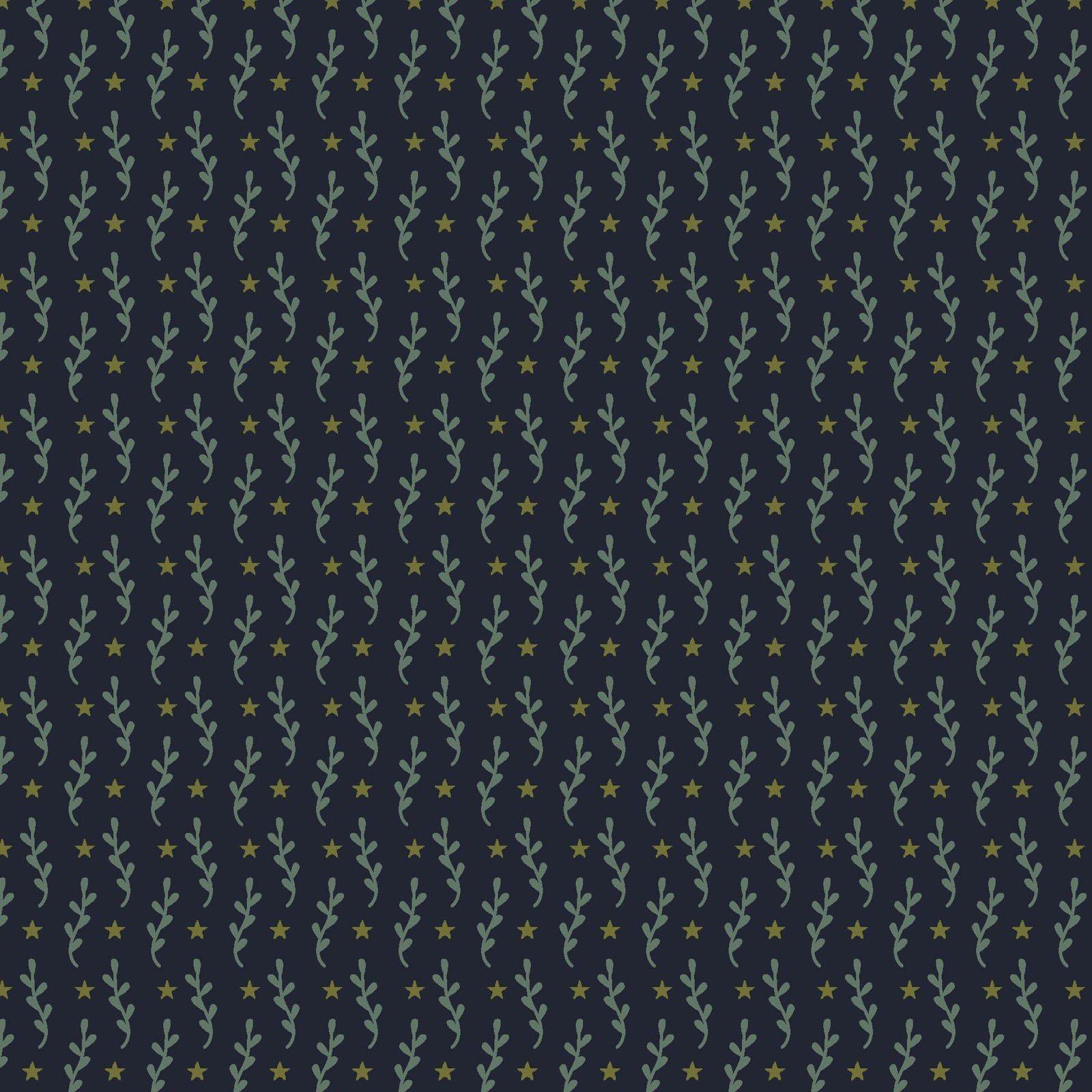 Primitive Stitches - Navy<br/>Henry Glass 8820-77