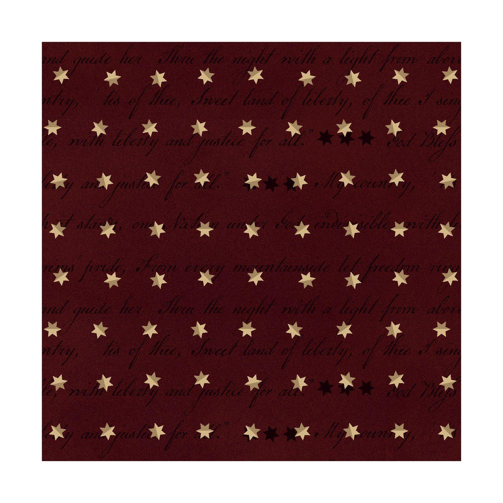 Spirit of America - Dk Red<br/>Henry Glass 8866-88