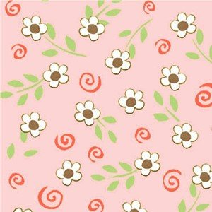 Woodland Friends - Swirl Floral Pink<br/>Henry Glass 5709-22