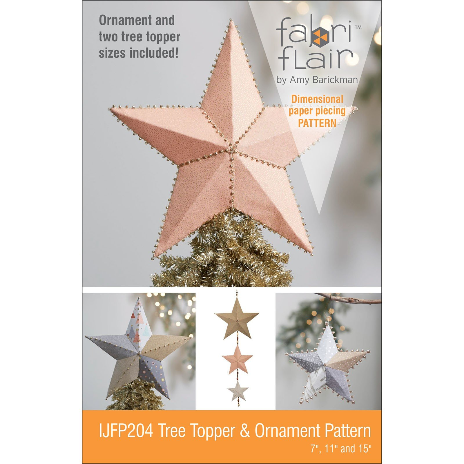Fabriflair Tree Topper & Ornament<br/>Indygo Junction IJFP204