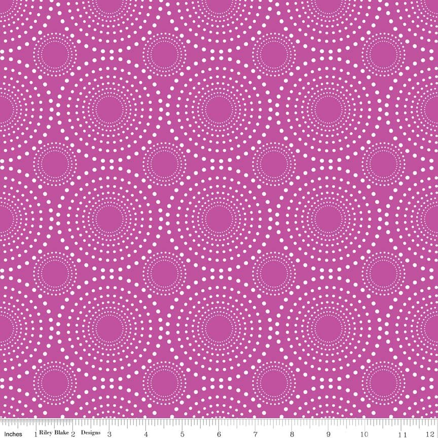 Knit Vivid Fireworks Purple</br>Riley Blake