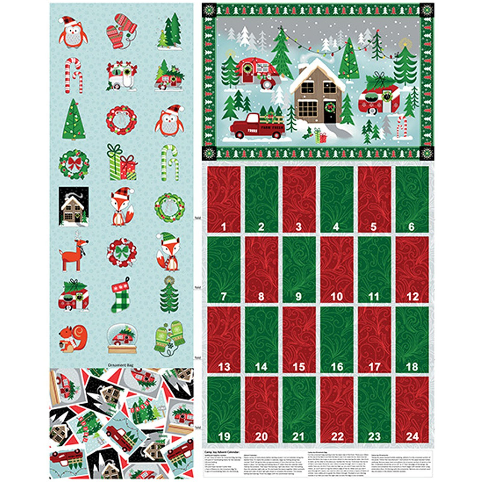 Camp Joy Advent Calendar Panel<br/>Kanvas Studio 7996-99