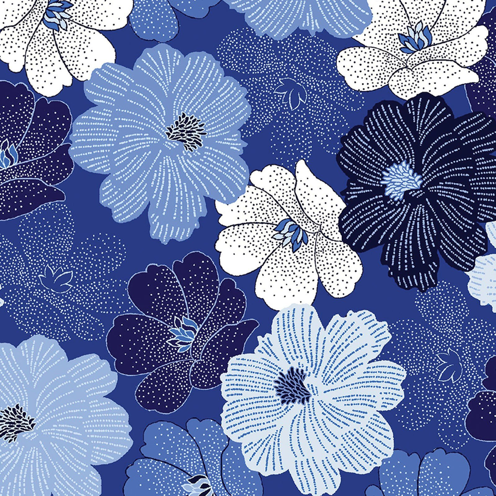 Shimmer Packed Flower Blue<br/>Kanvas Studio 8811P-54