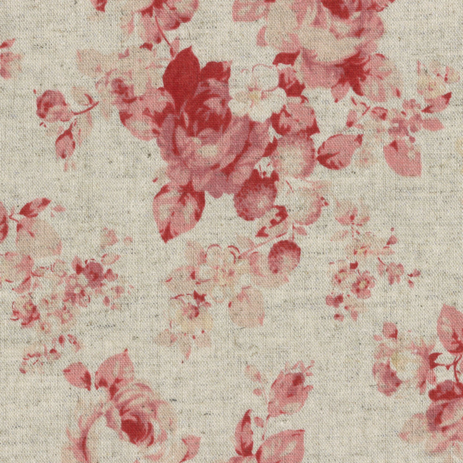 Canvas - Durham Roses - Taupe<br/>Lecien 31468-30