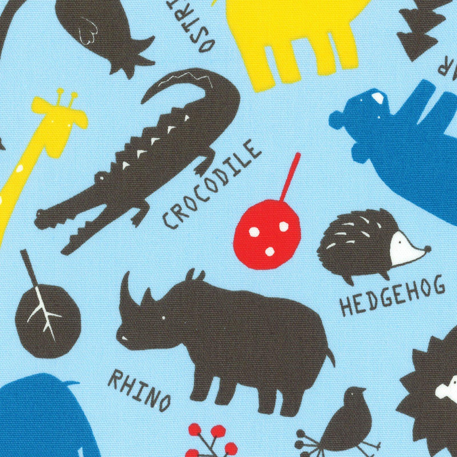 Wild Animals - Blue Oxford<br/>Lecien 40701-70