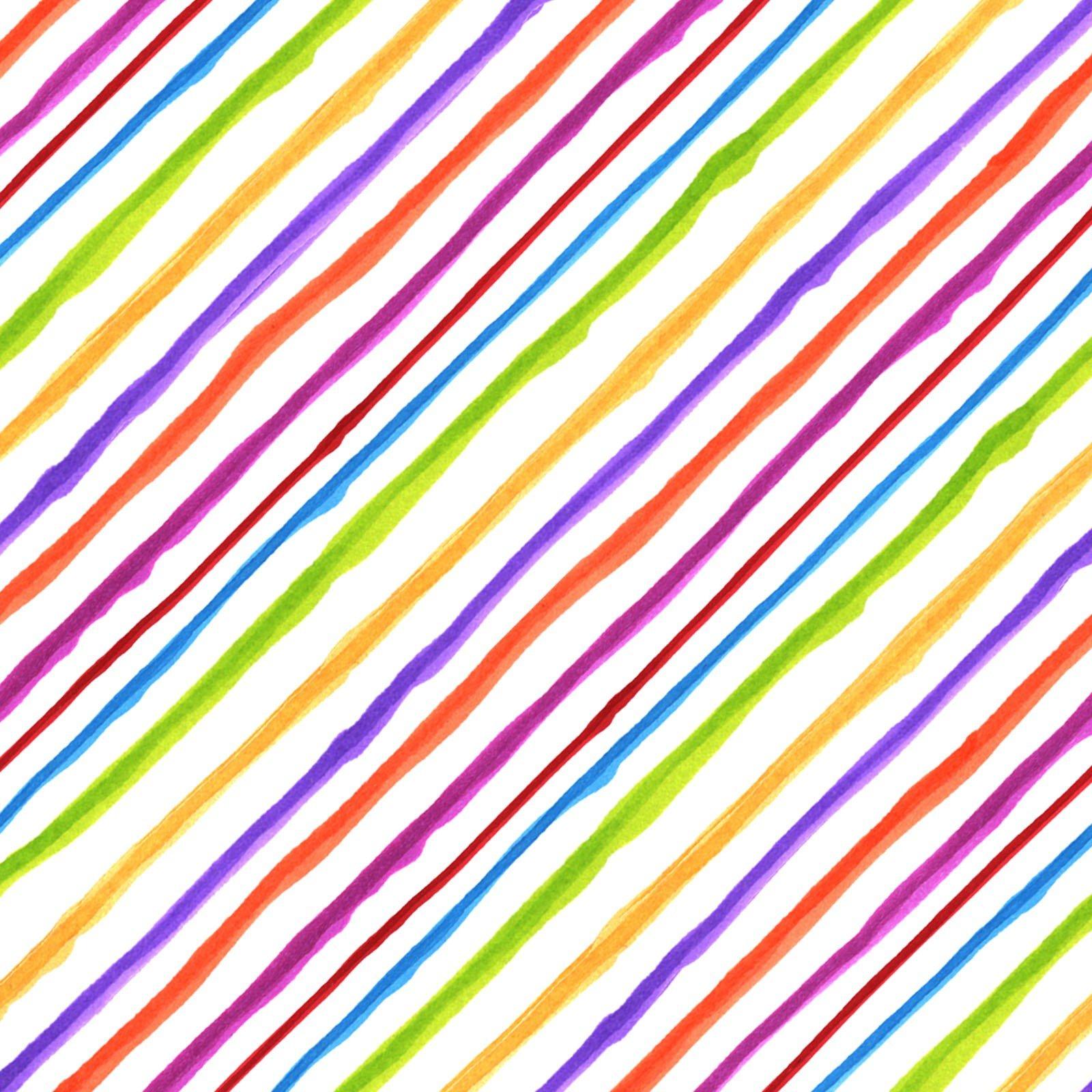 Quirky Bias Stripe - White/Multi<br/>Loralie Designs 692-201
